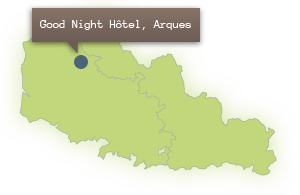Locate the Good Night Hotel in the Nord Pas de Calais region