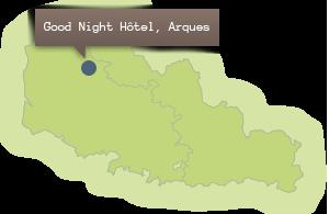 Situer l'hôtel dans la région Nord Pas de Calais